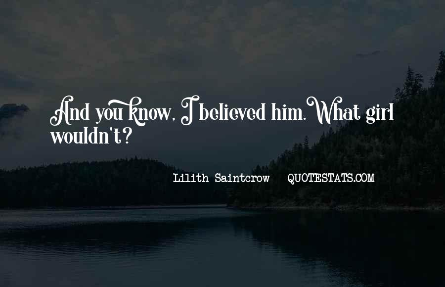 Lilith Saintcrow Quotes #1488893