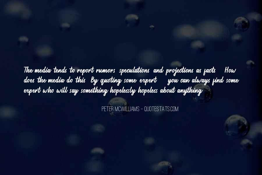 Quotes About Speculations #1040283