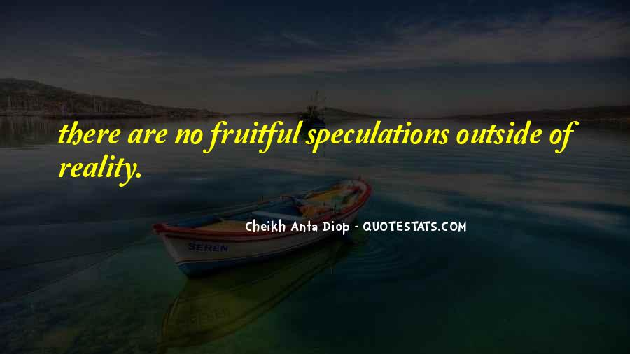 Quotes About Speculations #1540404