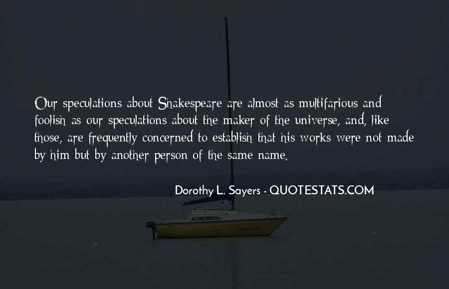 Quotes About Speculations #1593757