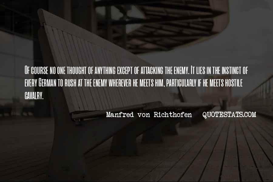 Manfred Von Richthofen Quotes #784306