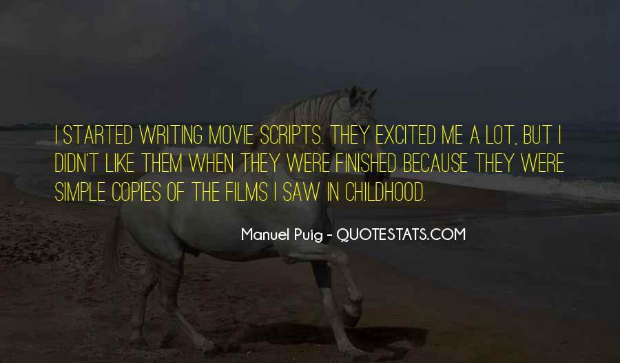 Manuel Puig Quotes #1539860
