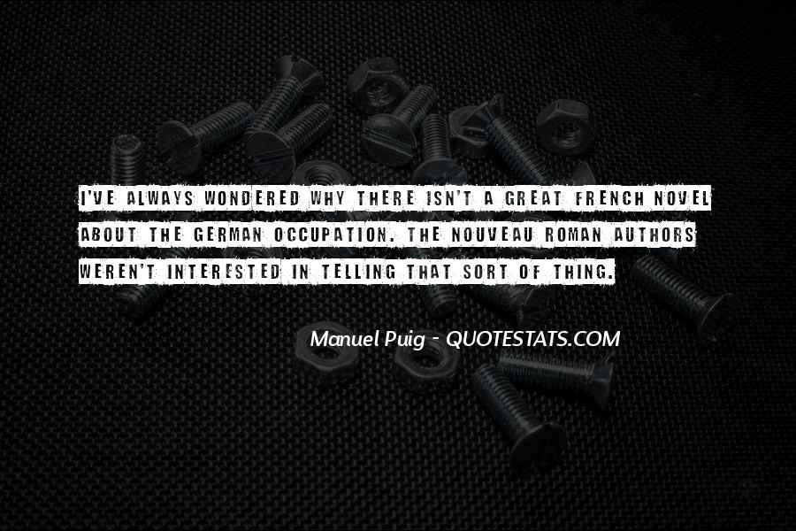 Manuel Puig Quotes #274899