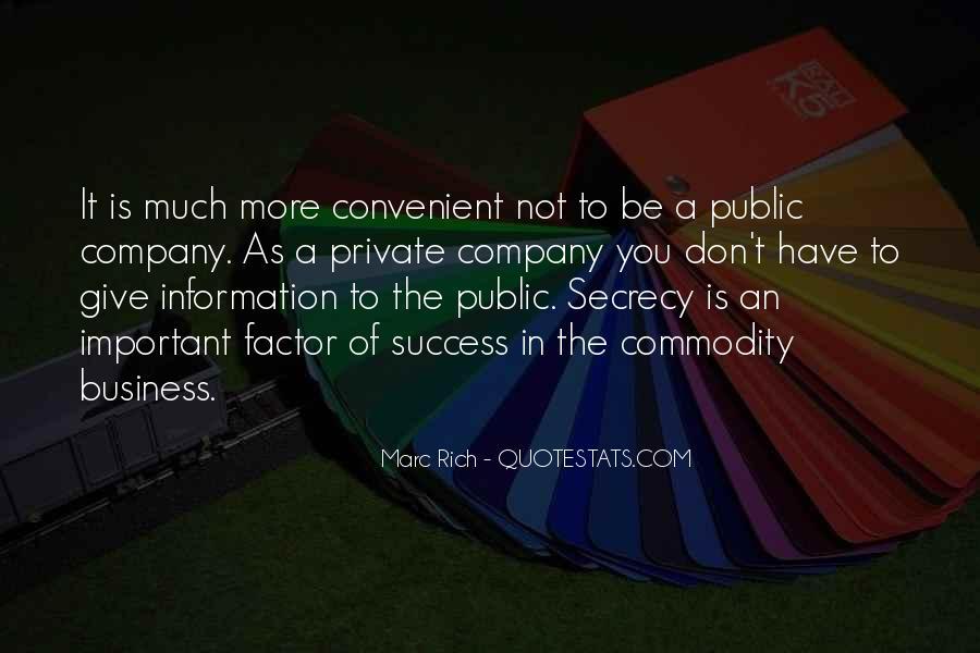 Marc Rich Quotes #1382017