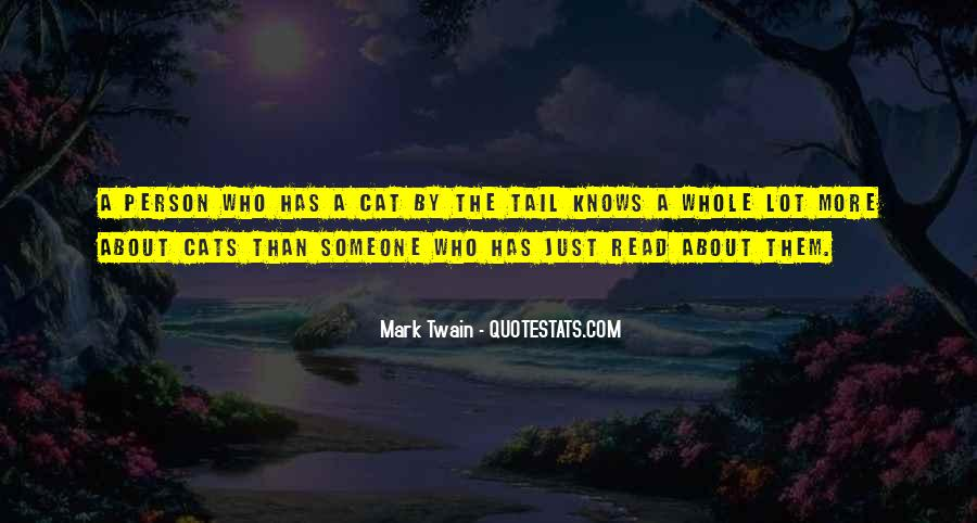 Quotes About Cats Mark Twain #718135