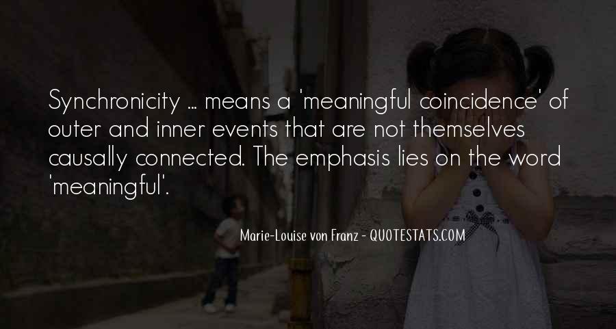 Marie Louise Von Franz Quotes #1275142