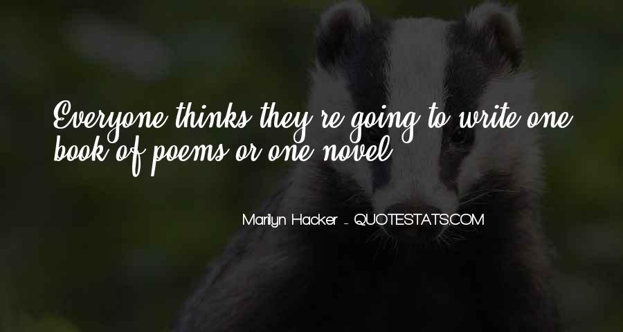 Marilyn Hacker Quotes #1249716