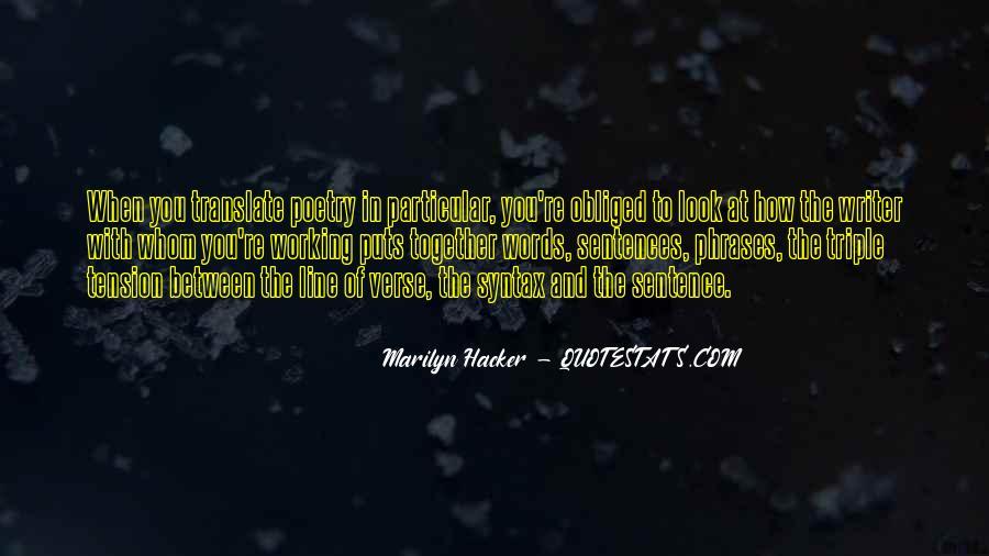 Marilyn Hacker Quotes #1701031