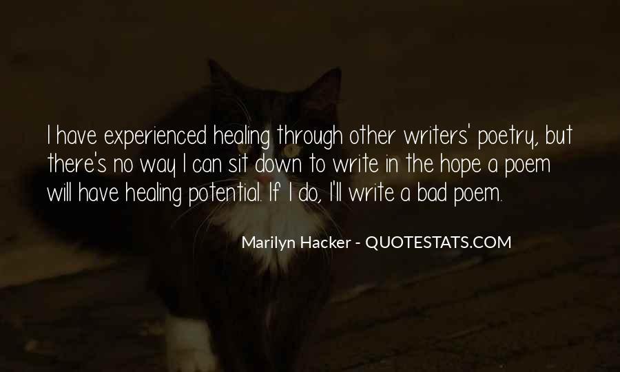 Marilyn Hacker Quotes #22476