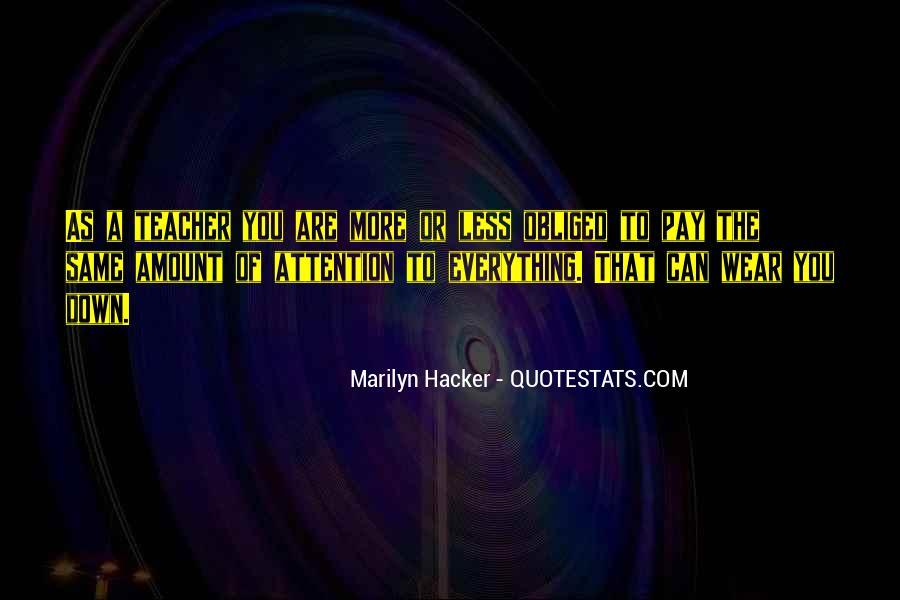Marilyn Hacker Quotes #260789