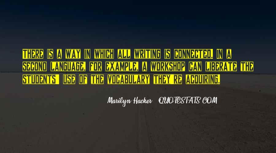 Marilyn Hacker Quotes #843281