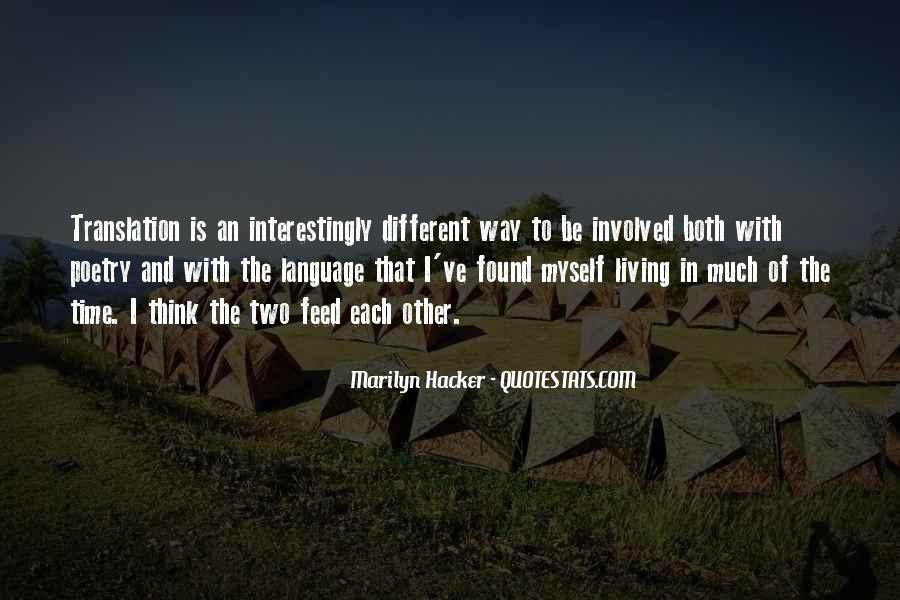 Marilyn Hacker Quotes #853712