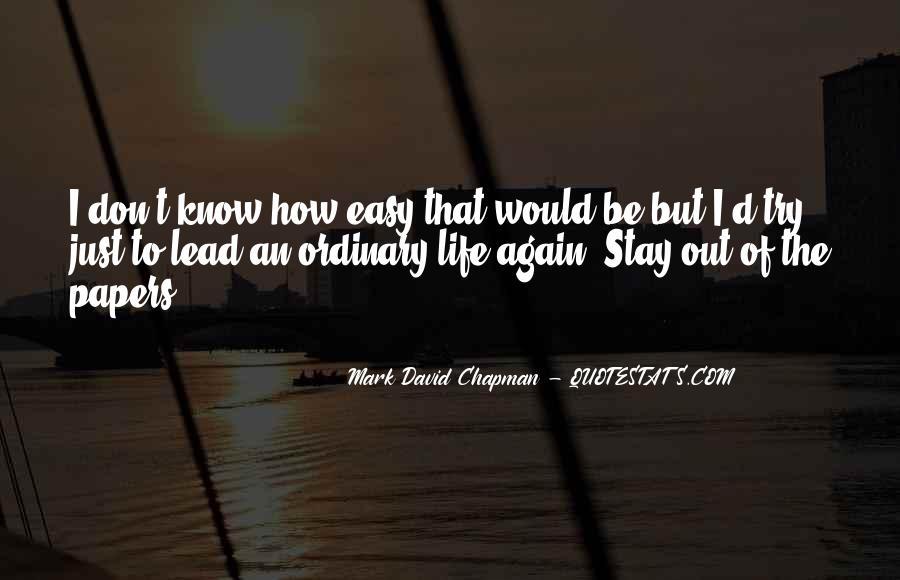Mark Chapman Quotes #14205