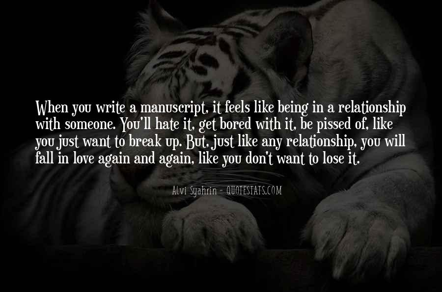 Quotes About Love After Break Ups #169820