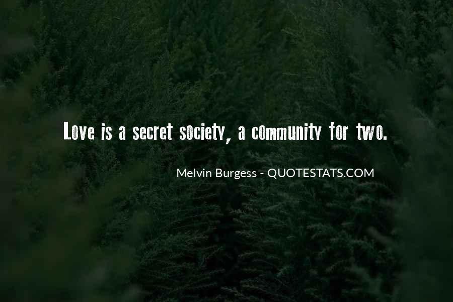 Melvin Burgess Quotes #924678