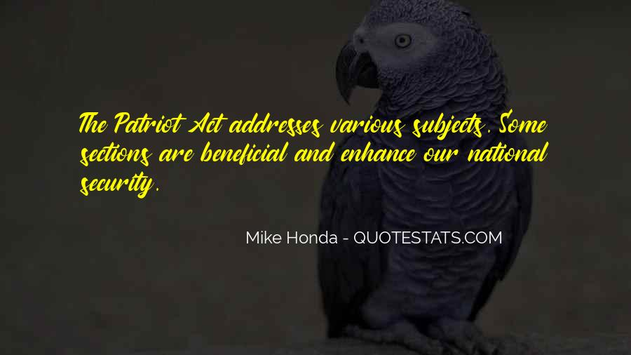 Mike Honda Quotes #869584