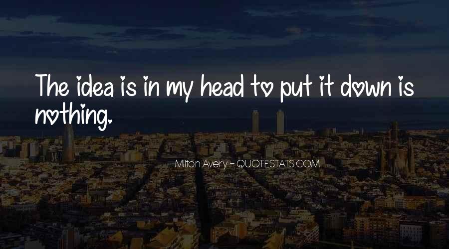 Milton Avery Quotes #1385190