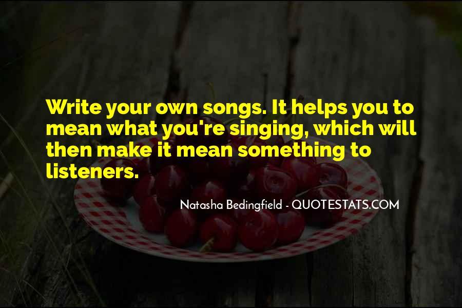 Natasha Bedingfield Quotes #471895