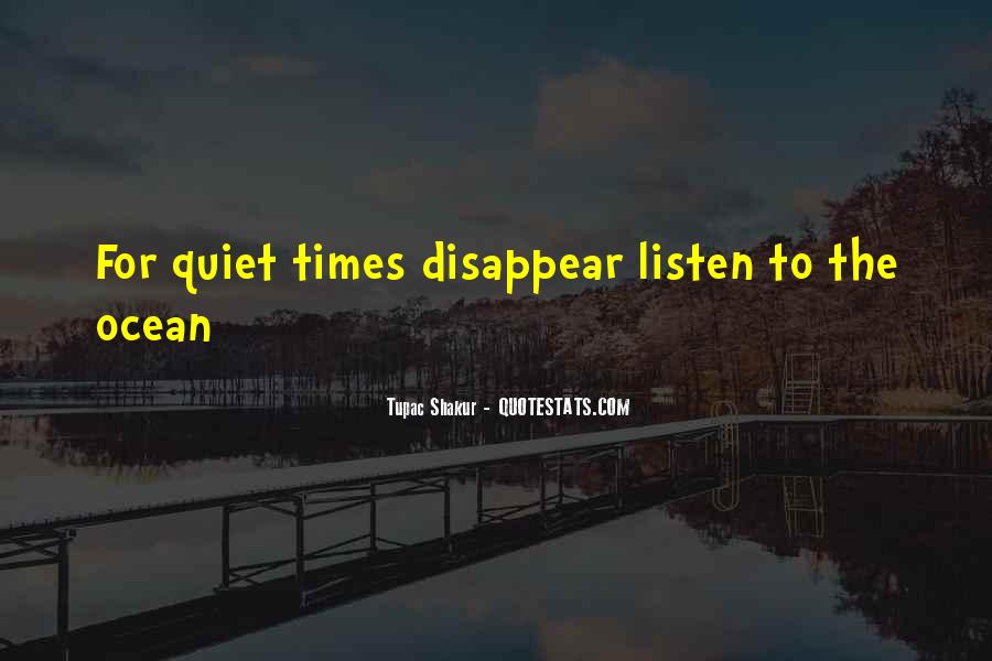 Quotes About Quiet Times #1153578
