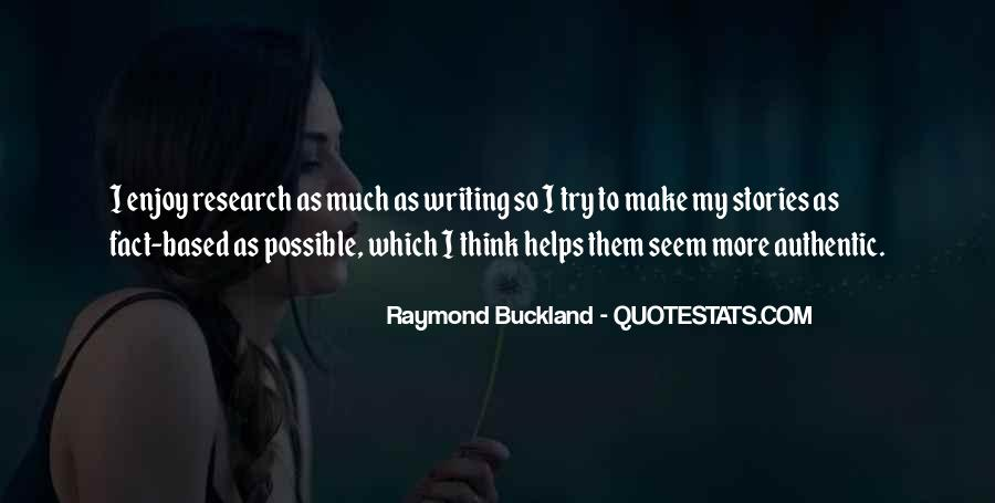 Raymond Buckland Quotes #145754