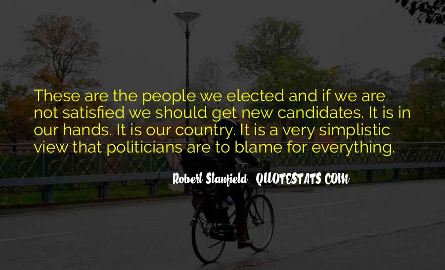 Robert Stanfield Quotes #117476