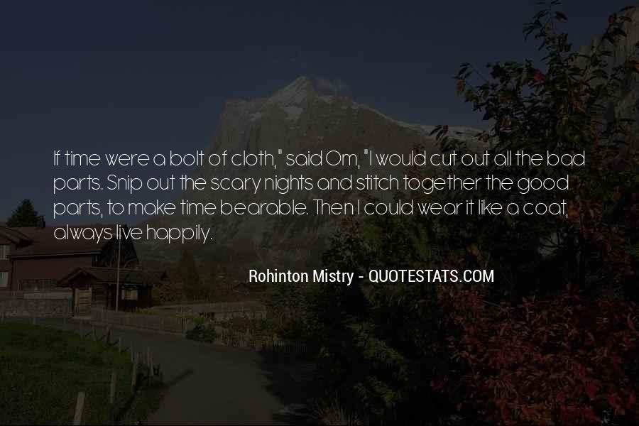 Rohinton Mistry Quotes #792539