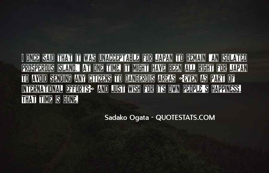 Sadako Ogata Quotes #245419