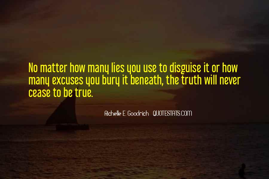 Quotes About Lies And Excuses #144496