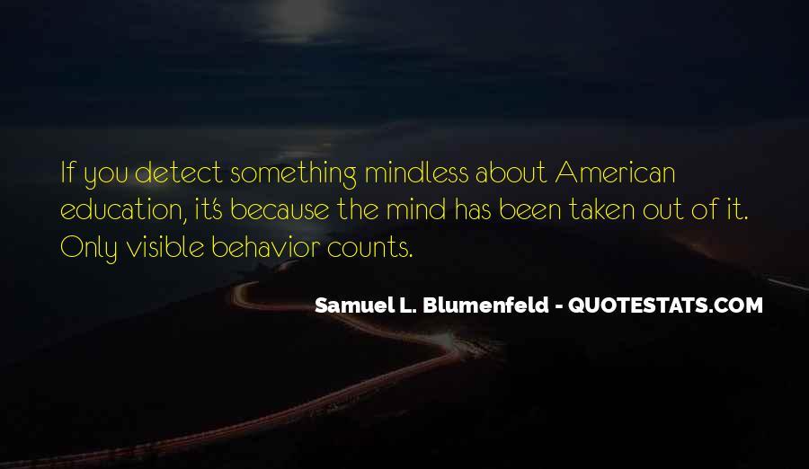 Samuel Blumenfeld Quotes #1861526