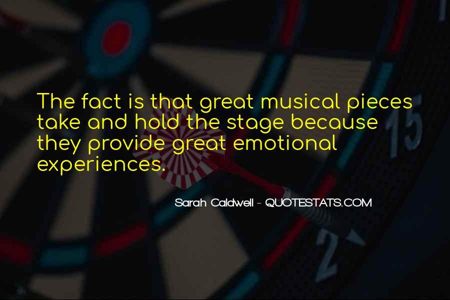Sarah Caldwell Quotes #1463821