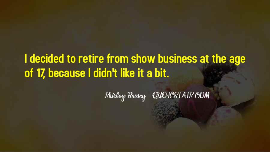 Shirley Bassey Quotes #1314955