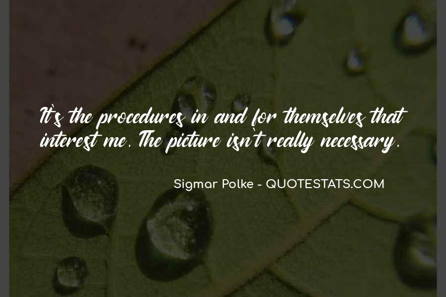 Sigmar Polke Quotes #1190739