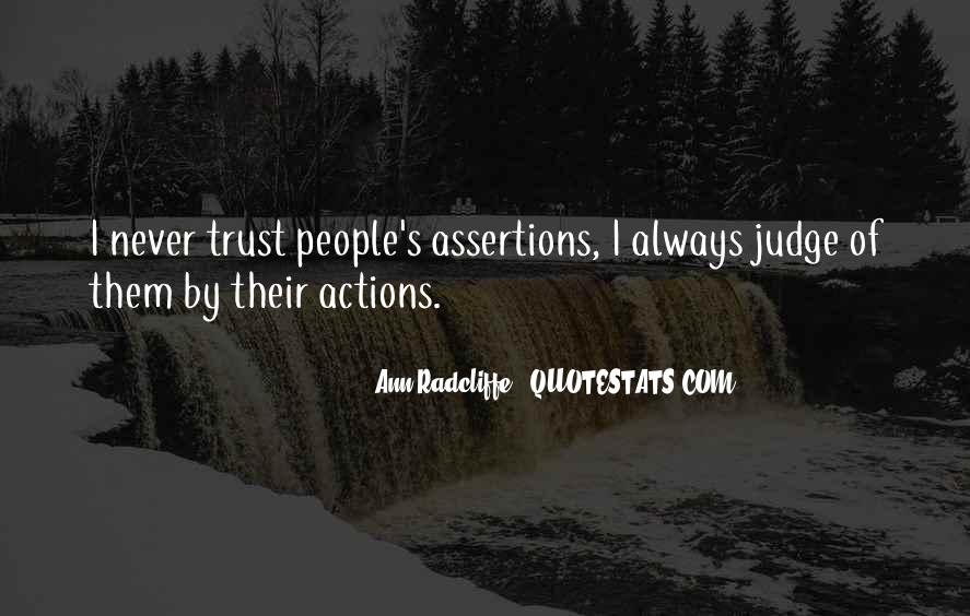 Quotes About Judging People's Actions #1631491