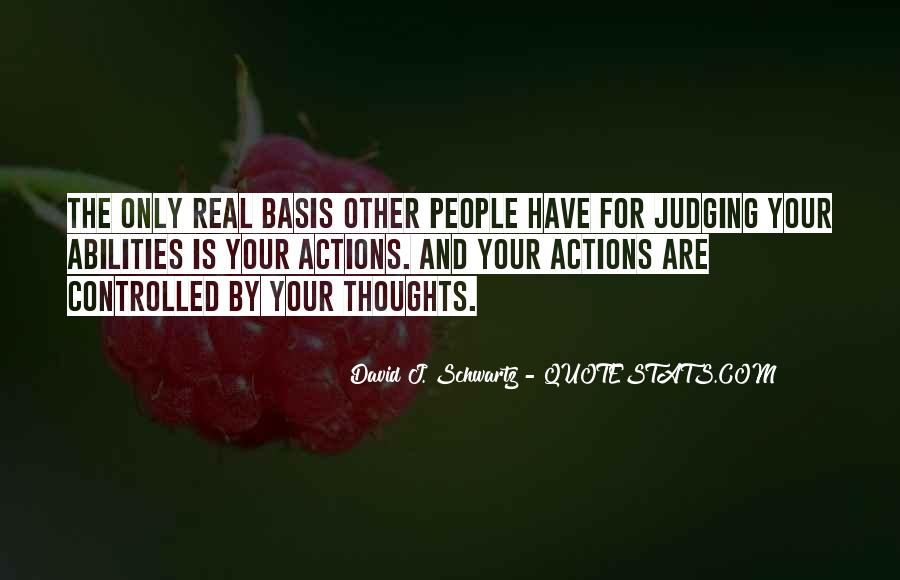 Quotes About Judging People's Actions #792119