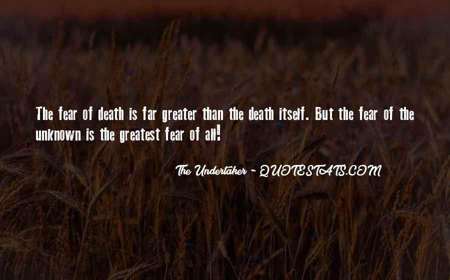 Quotes About Undertaker Death #1131071