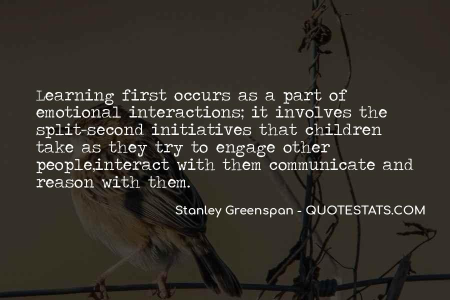 Stanley Greenspan Quotes #995705