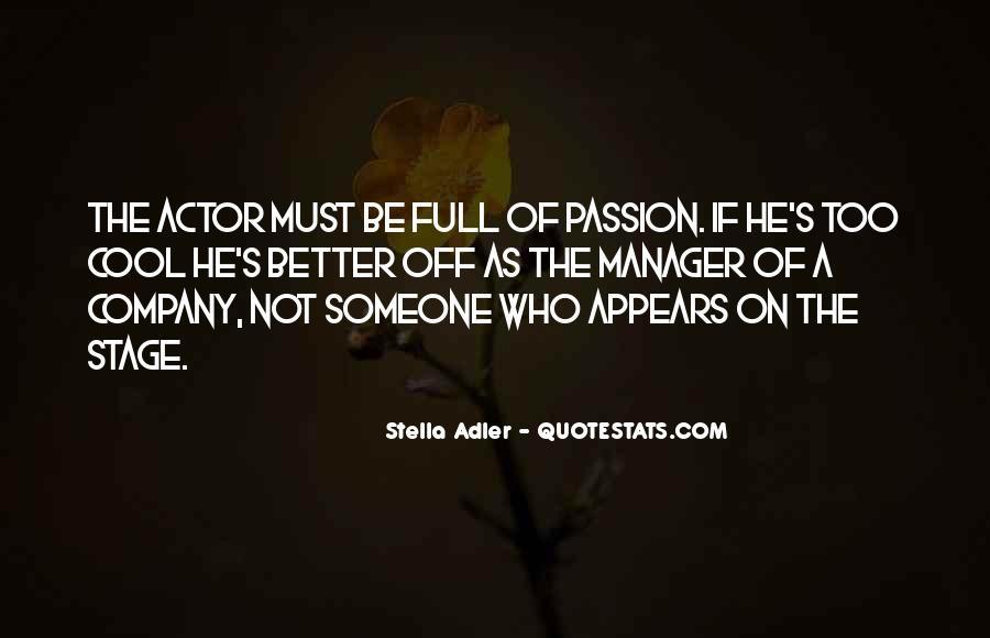 Stella Adler Quotes #782432