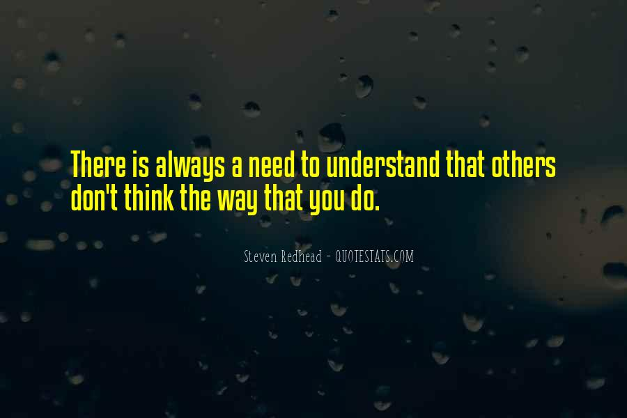 Steven Redhead Quotes #466673