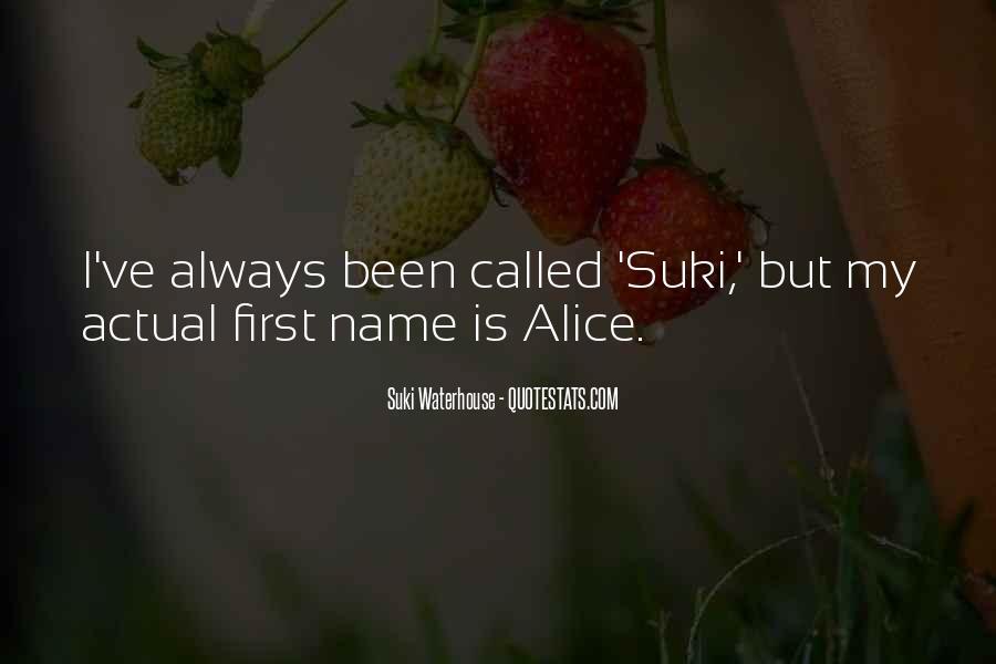 Suki Waterhouse Quotes #435425