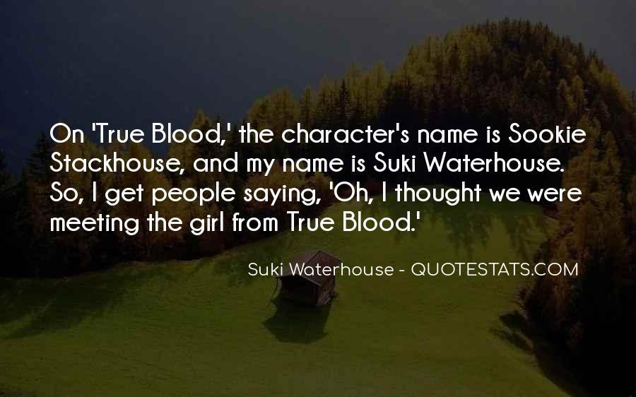 Suki Waterhouse Quotes #628297