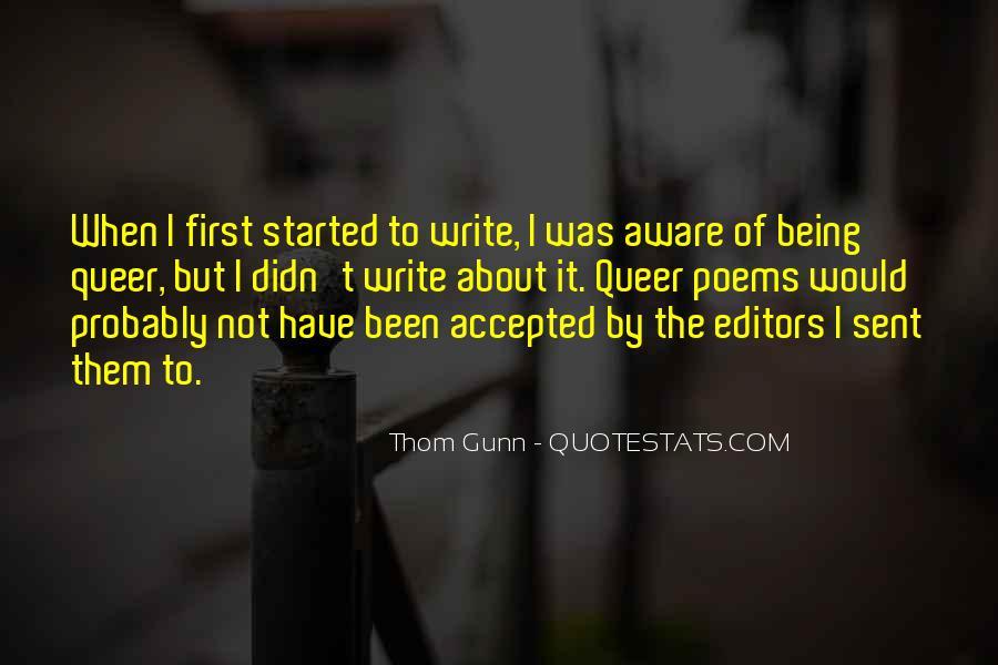 Thom Gunn Quotes #42872