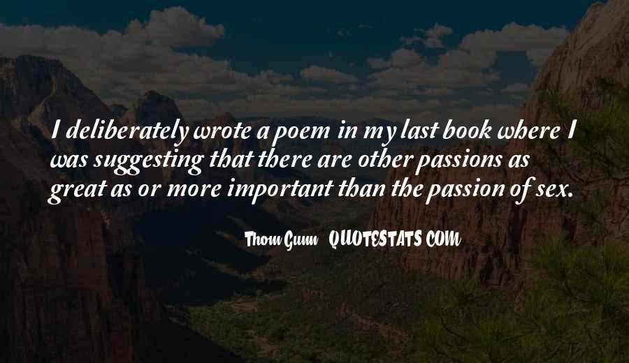 Thom Gunn Quotes #472763