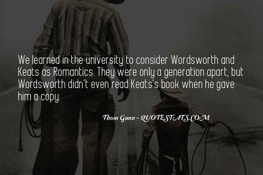 Thom Gunn Quotes #684953