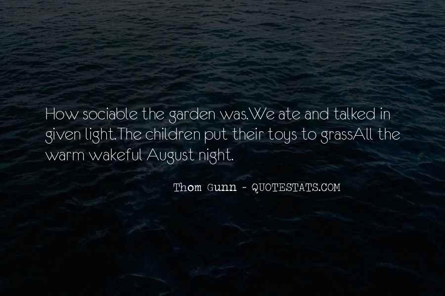 Thom Gunn Quotes #798197