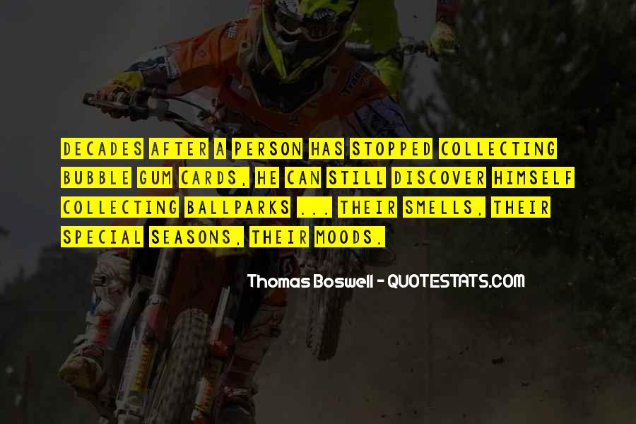 Thomas Boswell Quotes #126161
