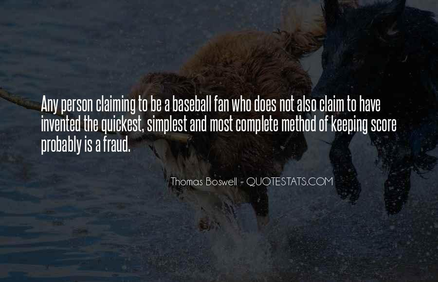 Thomas Boswell Quotes #741596
