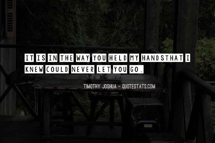 Timothy Joshua Quotes