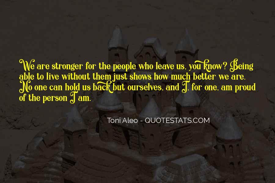Toni Aleo Quotes #117727