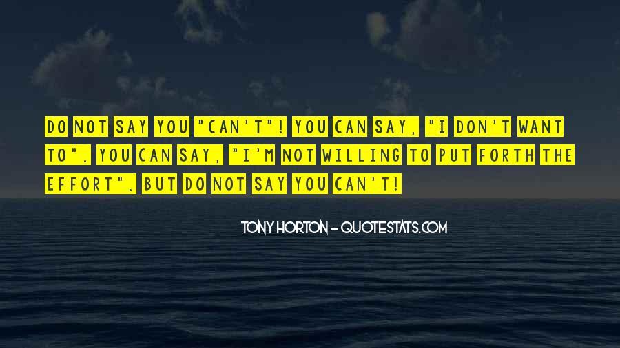 Tony Horton Quotes #1261287