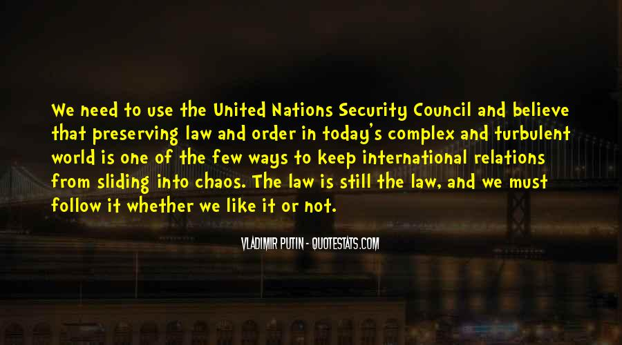 Quotes About The United Nations Security Council #1500238